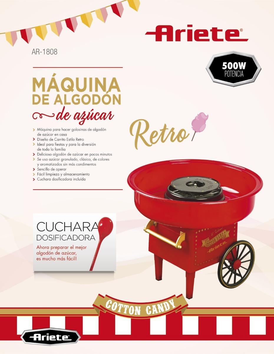 Máquina Para Hacer Algodón De Azúcar Casero Ariete Ar-1808 - U$S 52 ...