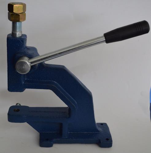 maquina para broches con tope + 2 matriz - industrial tela