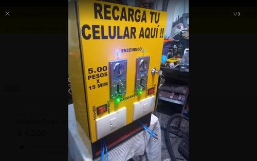máquina para cargar celulares y aparatos electricos