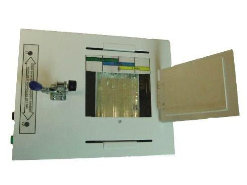 máquina para carimbos sistema  polímero e flash