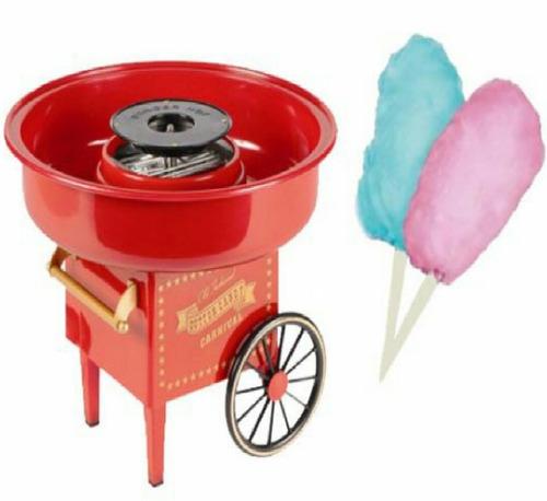 maquina para copos de nieve algodon de azucar hogareña retro