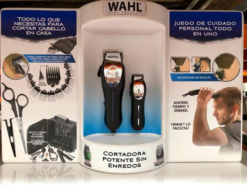 maquina para cortar cabello wahl kit 22 piezas deluxe oferta