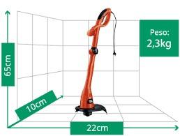 máquina para cortar grama 500w black and decker gl300 - 220v