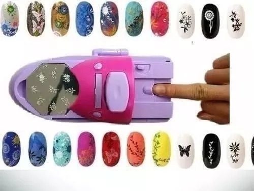 máquina para decorar unhas com figuras kit decoração carimbo