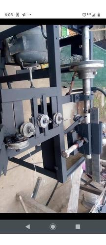 máquina para fabricar tejido romboidal