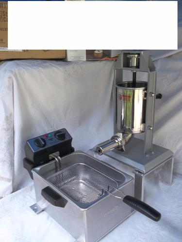 maquina para hacer churros 5 libras capacidad, con freidora.