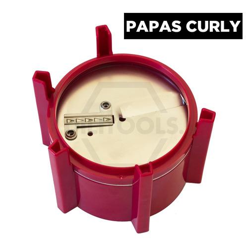maquina para hacer espiropapas 3 en 1 estructura plástica