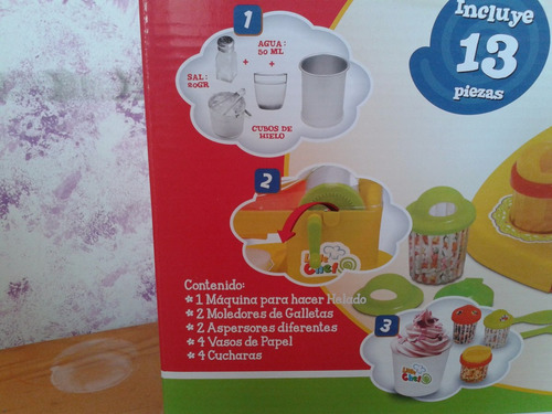 maquina para hacer helados  de juguete.