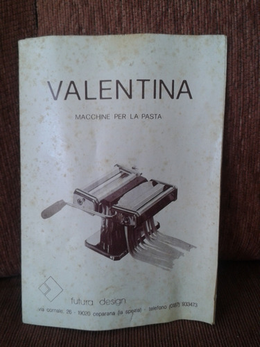 maquina para hacer pasta casera marca valentina