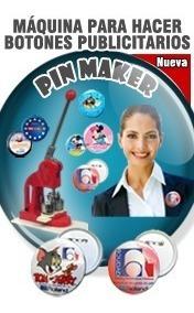 maquina para hacer pines/botones llaveros publicitarios
