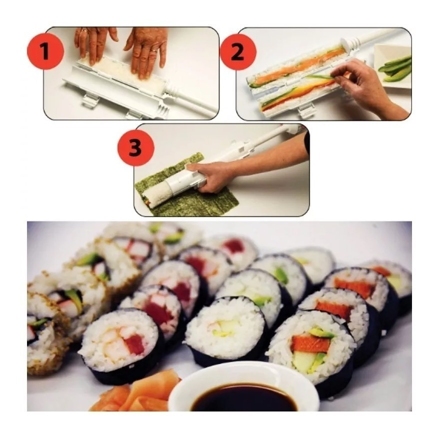 Maquina Para Hacer Sushi Maker Rolls Super Facil Sushezi