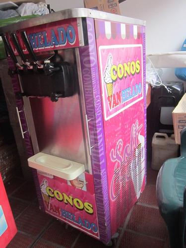 maquina para helado suave 3 boquillas