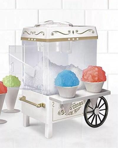 maquina para helados granizados y raspados nostalgia blanco