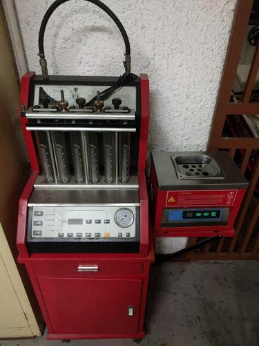 maquina para limpieza de inyectores con bandeja ultrasonido