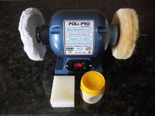 maquina para polir lustrar engraxar sapato - profissional