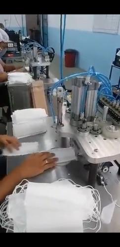 máquina para solda elástico máscara descartável