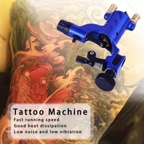 maquina para tatuar tattoo tatuaje rotativas color azul w02
