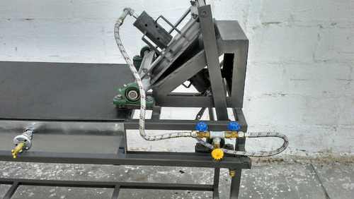 máquina para tortillas de harina (prensa manual con comal)
