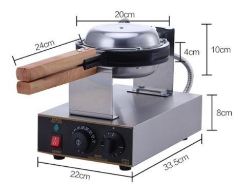 máquina para wafles burbuja huevo  acero inoxidable
