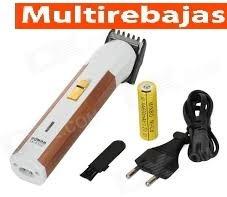 maquina patillera afeitadora cortadora recargable portatil
