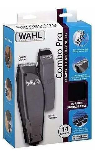 maquina patillera wahl hombres combo x14 piezas / impoluz