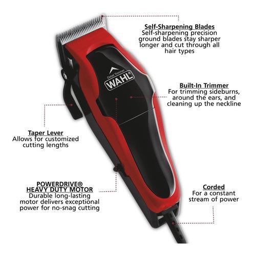 maquina peluquería wahl 2 en 1 clip trimmer 20 piezas 79900