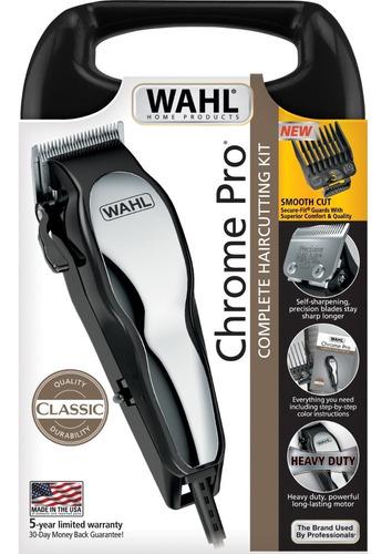 maquina peluquería wahl chrome pro kit de 17 piezas 79730