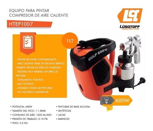 maquina pintar latex lusqtoff 600w equipo aire caliente