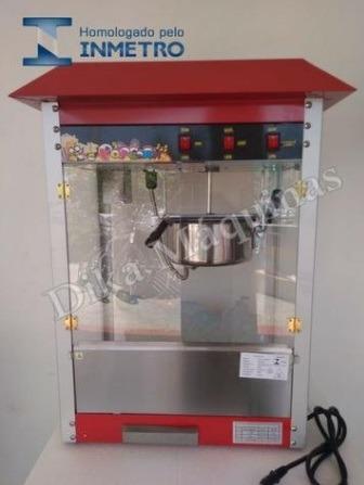 máquina pipoqueira profissional elétrica pronta entrega