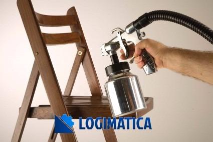 máquina pistola equipo para pintar metálica logimatica 600w