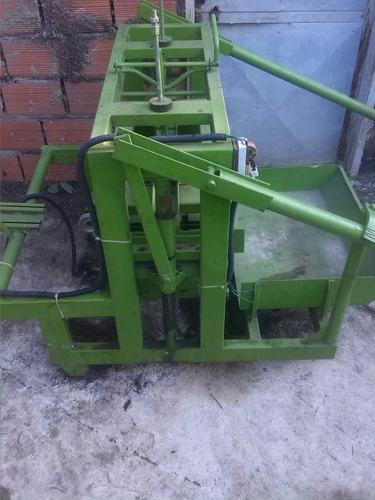 maquina ponedora de bloques de 15cm de cemento,  y trompo