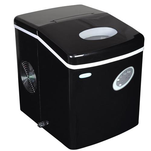 maquina portátil de hielo negro