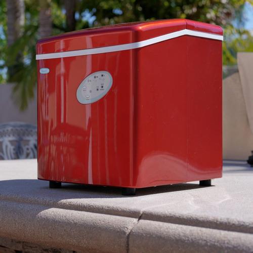 maquina portátil de hielo rojo