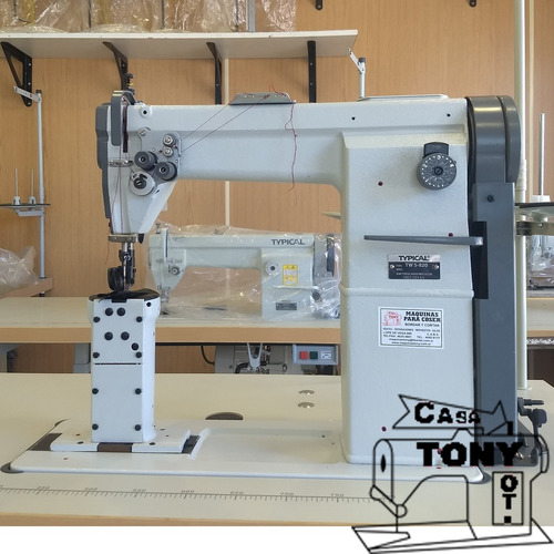 maquina poste 2 agujas typical tw5-820