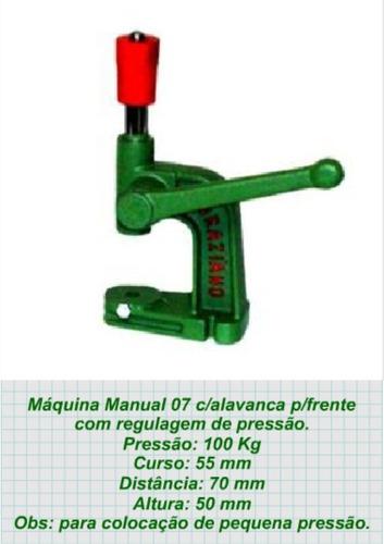 maquina pregar botao +2 matriz + 100 botoes pressão 80 e 103