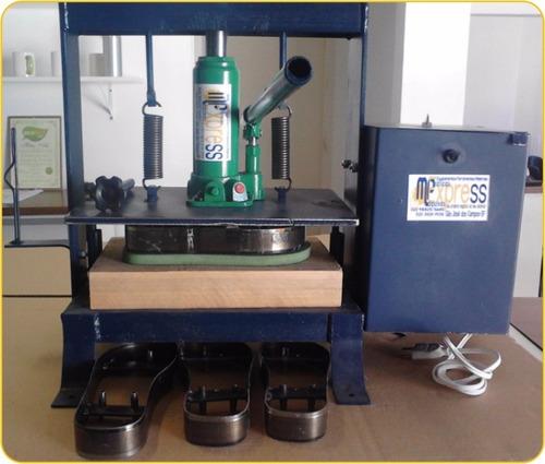 maquina prensa de fazer chinelo colocador de tiras e fresa