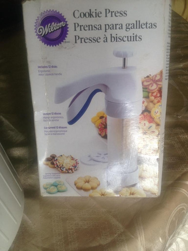 máquina prensa para hacer galletas. cookie press wilton