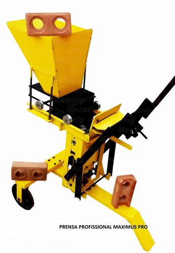 maquina prensa tijolo ecologico modular maximus 30 tipos