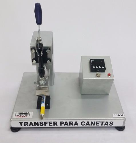 maquina prensa transfer de estampar canetas