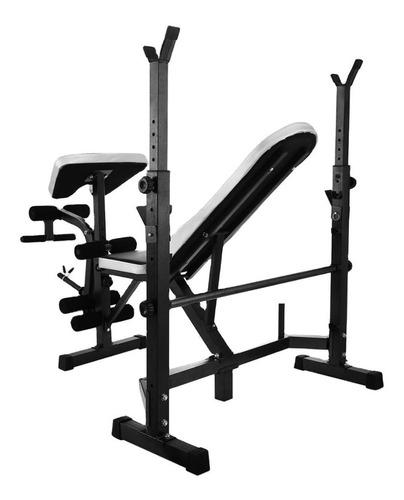 máquina press banca predicador piernas remo