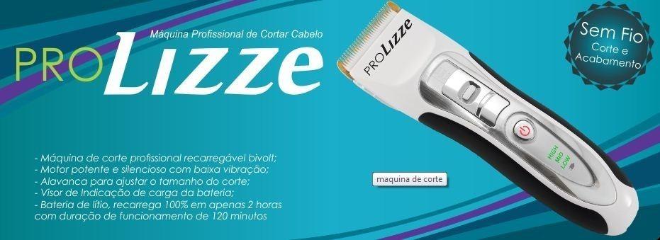 26107a249 Máquina Pró Lizze Bivolt-original P/corte De Cabelo Sem Fio - R$ 339,94 em  Mercado Livre