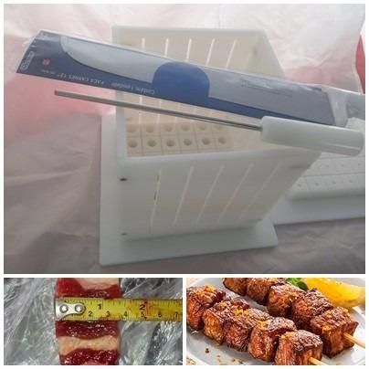 máquina profissional 36 espetinhos 150 gramas+faca+2insersor