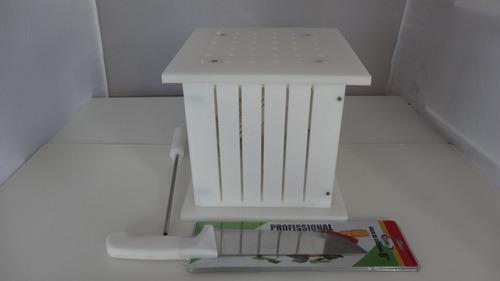 máquina profissional 36 espetinhos 150 gramas+faca+insersor