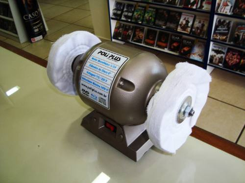 maquina profissional polir tirar riscos blu-ray dvd cd
