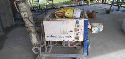 máquina proyectadora duo mix para revoques y yeso proyectado