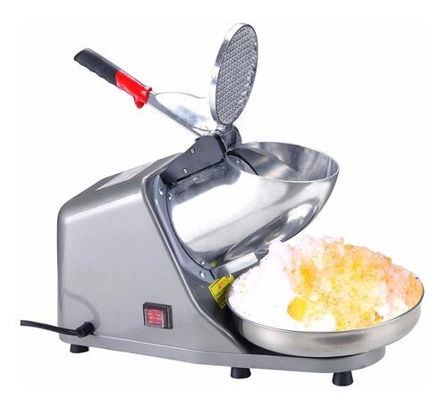 máquina raspadora hielo eléctrica e inoxidable
