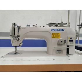 Máquina Recta Industrial Worlden Motor Directo, Completa