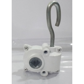 Máquina Redutor Catraca De Aluminio Toldo Cortina Branco