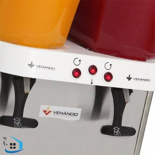 máquina refresqueira de suco venâncio rv216 32 lts 2 cubas