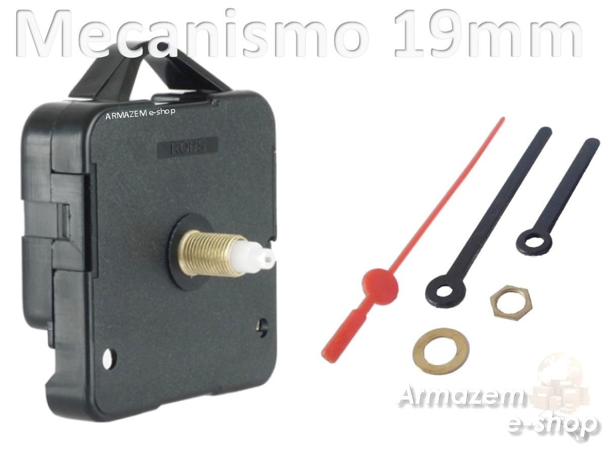 eda6de0033a Maquina Relógio Continuo Quartz Parede Com Alça Eixo 19mm - R  9